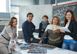 Группа архитекторов архитектурной мастерской Галины Перлиной