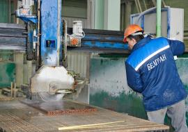 Распиловка гранита на ОАО «Белгран»