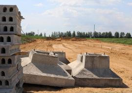 Площадка под будущее сенохранилище