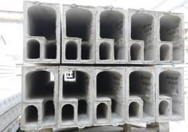 На трех установках ОАО «Минскжелезобетон» формует до 110 куб. м  вентблоков в смену различных типоразмеров. Частично продукция идет на экспорт.